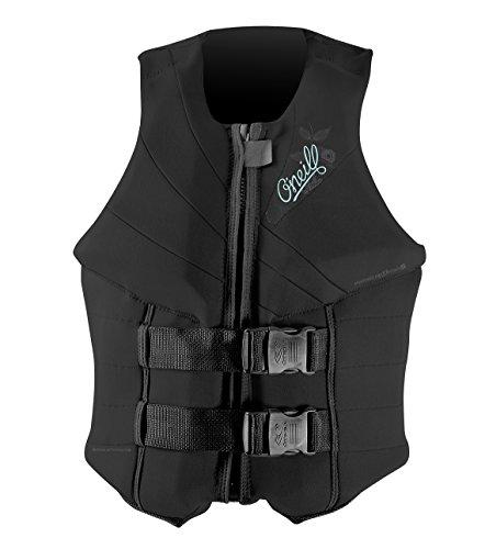 O'Neill Women's Siren USCG Life Vest, Black, 6
