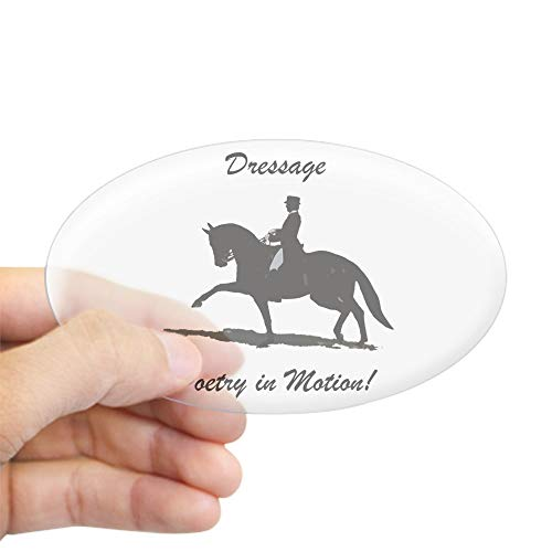 CafePress Dressage Poetry in Motion Horse Oval Bumper Sticker, Euro Oval Car Decal (The Best Dressage Horse In The World)