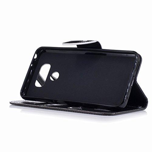 Yiizy LG G6 (H870, H870K, H870S, H870V) Funda, Tooth Smile Diseño Solapa Flip Billetera Carcasa Tapa Estuches Premium PU Cuero Cover Cáscara Bumper Protector Slim Piel Shell Case Stand Ranura para Tar