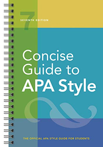 Concise Guide to APA Style: Seventh Edition