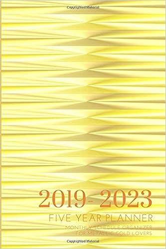 2019-2023 Five Year Planner Monthly Schedule Organizer For ...