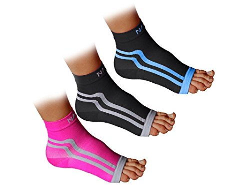 NAK Fitness: Plantar Fasciitis Sock Ankle Sleeve for Arch Support (Cross Training Womens Socks)