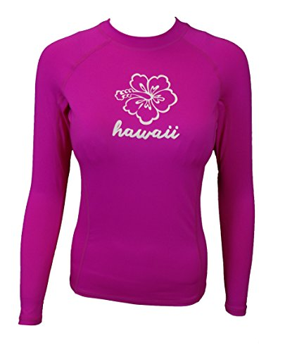 Maui Clothing Fuse Hawaii Hibiscus Flower Rash Guard Longsleeve - Jean Maui Sunglasses