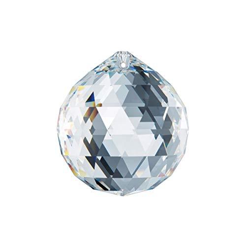 Adwikoso Crystal Ball Prism Pendant Glass Chandelier Hanging Pendant Feng Shui Suncatcher Wedding Home Window Décor (80mm)