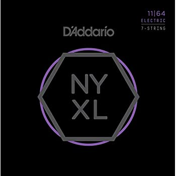 DAddario NYXL1164 Nickel Plated Electric Guitar Strings, Medium,7-String,11-64 – High Carbon Steel Alloy for Unprecedented Strength – Ideal Combination of ...