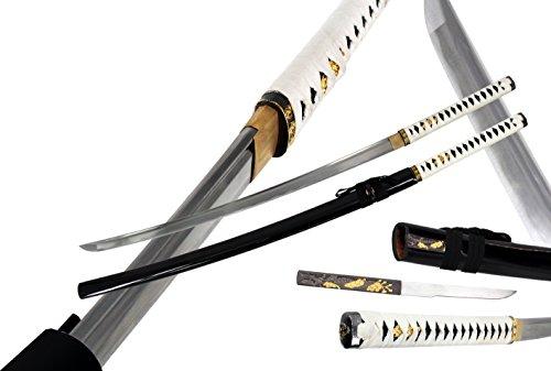 Handmade Black Zetsurin Samurai Katana Sword Sharp