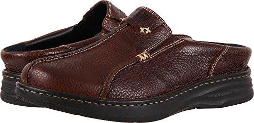 Drew Shoe Men's Drew Lightweight Fashion Clogs, Brown, Leather, 12 4W (Jackson Extra Light)