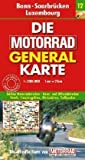 Motorrad Generalkarte Deutschland Bonn, Saarbrücken, Luxembourg 1:200 000