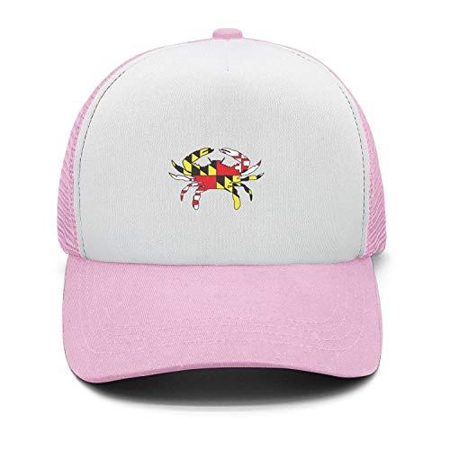 Crab Maryland Flag Cap Hat for Men All Cotton Cap Snapback Vintage Athletic]()