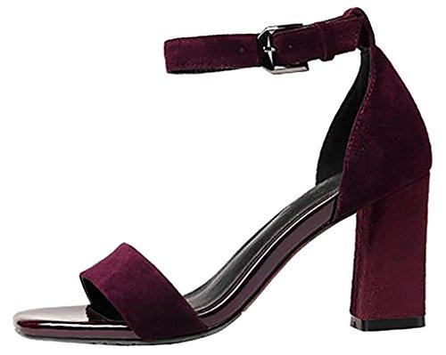 Zapatos rojos formales Calaier para mujer K71N3
