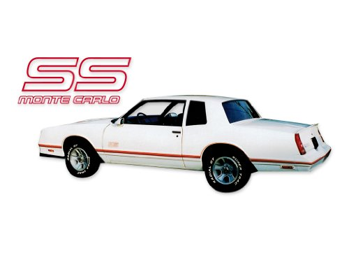 1987 1988 Chevrolet Monte Carlo SS Super Sport Decals & Stripes Kit - (Decals Stripes Kit)
