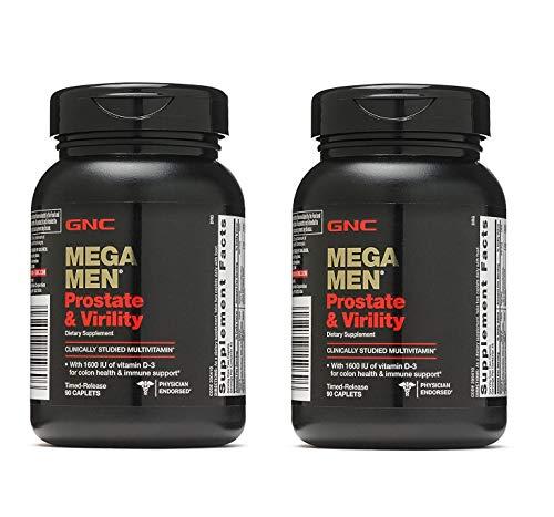 (GNC Mega Men Prostate and Virility Multivitamin with Saw Palmetto Lycopene (2 Pack - 180 CAPLETS))