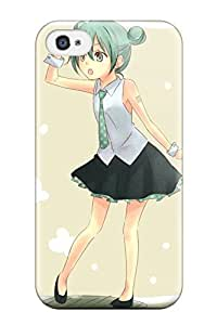 AmaBmAZ14379ECOkw Case Cover Tattoos Vocaloid Hatsune Miku Ties Shoes Greenshirts Open Mouth Cuffs Brown iPhone 6 plus 5.5 Protective Case