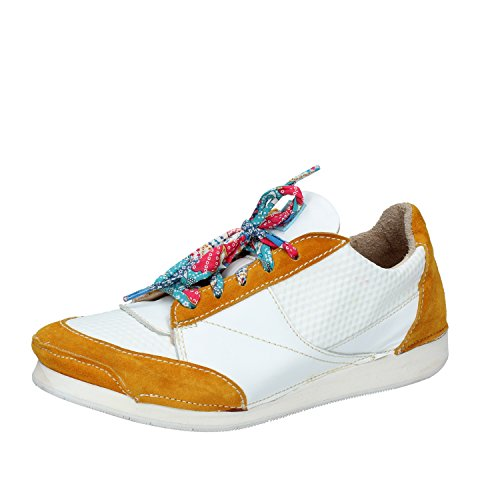 MOMA Sneakers Damen 37 EU Weiß Gelb Leder Wildleder