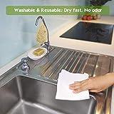 Reusable Unpaper Towels Set 10 & Natural Loofah