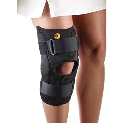 b97766fc0a Amazon.com: Corflex CoolTex Anterior Closure Wrap Around Hinged Knee Brace-M  - Open Popliteal: Sports & Outdoors