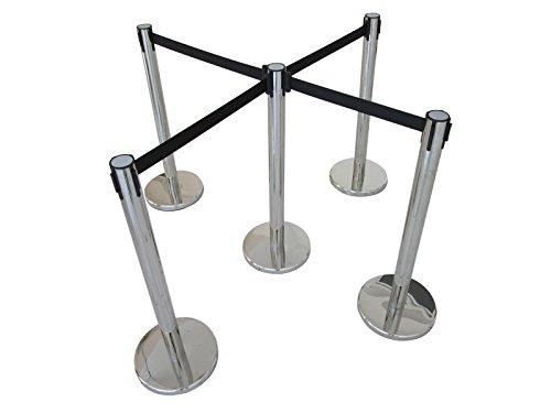 6PCS Stanchions Post Queue Pole Retractable Belt Crowd Control 170520 by Techtongda Stanchion