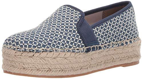 Circus by Sam Edelman Women's Christina Platform mid Blue Crosshatch Chambray 11 M US