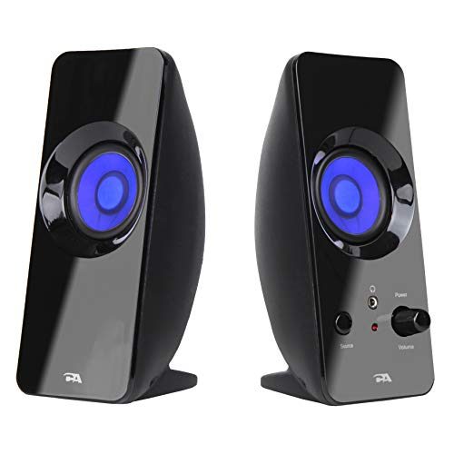 Cyber Acoustics 2.0 Lighted Bluetooth Speaker System - Home Audio for Laptop, PC Computer, Tablet, Smartphone and iPod (CA-2806BT)