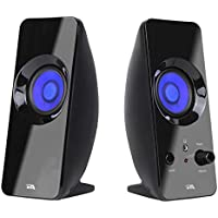 Cyber Acoustics 2.0 Lighted Speaker System - Home Audio for Laptop, PC computer, Tablet, Smartphone and iPod - Includes Bluetooth Connectivity (CA-2806BT)