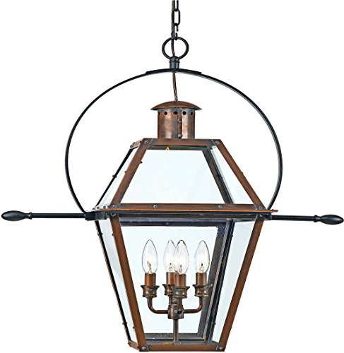 (Quoizel RO1914AC Four Light Outdoor Hanging Tabletop Lanterns, Extra Large Aged Copper)
