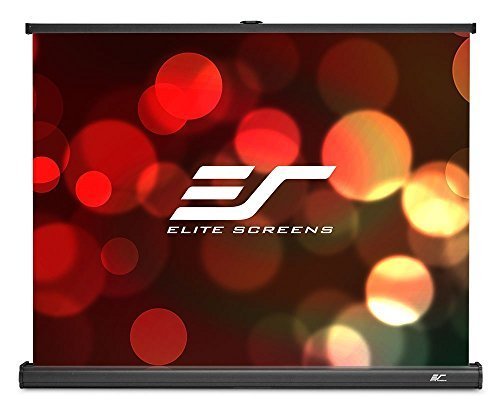 Elite Screens Pico Screen Series, 35-inch 4:3, Light-Weight Portable Table-Top Pull-Up Projection Screen, MaxWhite 1.1 Gain Front Material (Ultra HD/4K), PC35W by Elite Screens