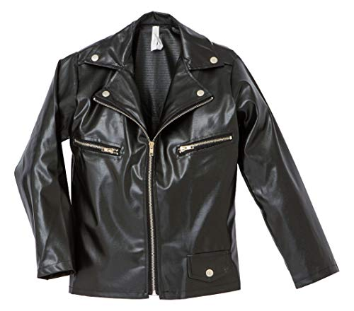 Amscan Fabulous '50S Costume Party Greaser Jacket - Child Standard, Black, Faux Leather, 1Piece Costume