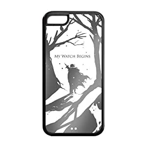 Game of Thrones Jon Snow, Ghost, the Night's Watch iPhone 5C TPU case