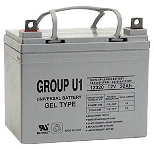 Universal Power Group 12V 32Ah Gel Cell Scooter Battery Pride Mobility Group U1 (U1 Sealed Gel Battery)