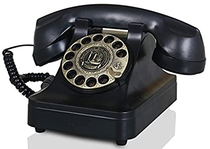 Amazon.com : IRISVO Vintage Phone, Rotary Dial Phones Decorative ...