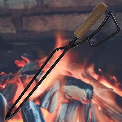 Clacce BBQ Carbon Clip, Outdoor Grill Tools Grillzange Hochwertige Grill Küchenzangen Set, Edelstahl Mahagoni Griff Rutschfester Griff (Schwarz)