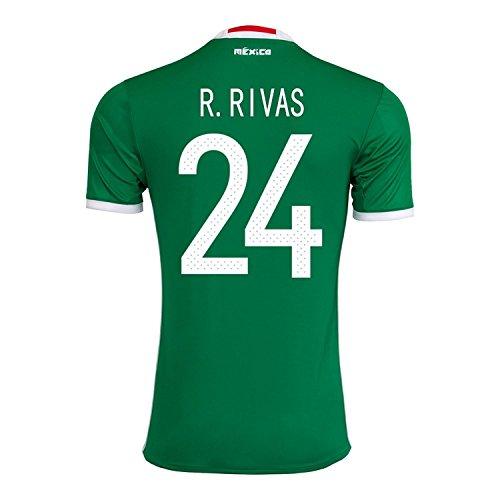 手当プログラムルビーJ. Rivas #24 Mexico Home Jersey Copa America Centenario 2016 / サッカーユニフォーム メキシコ ホーム用