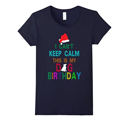 Womens Cool Dog Birthday with Merry Christmas costume ideas T-shirt Large (Mother And Son Costumes Ideas)
