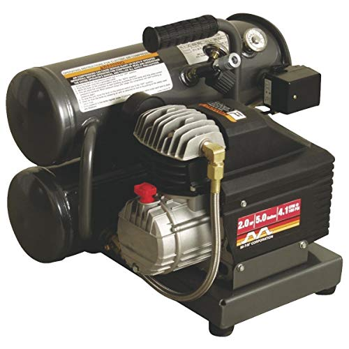 Stack Twin Aluminum (Mi-T-M 5 Gal. Portable Twin-Stack Air Compressor - AM1-HE02-05M)