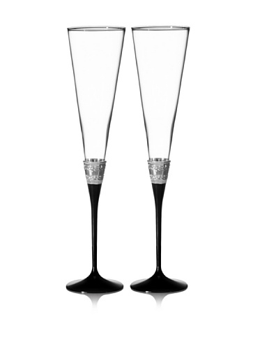 Vera Wang With Love Noir Toasting Flute Pair -  091574210445