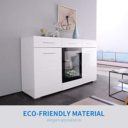 High Gloss Sideboard With Led Lights in US - 4