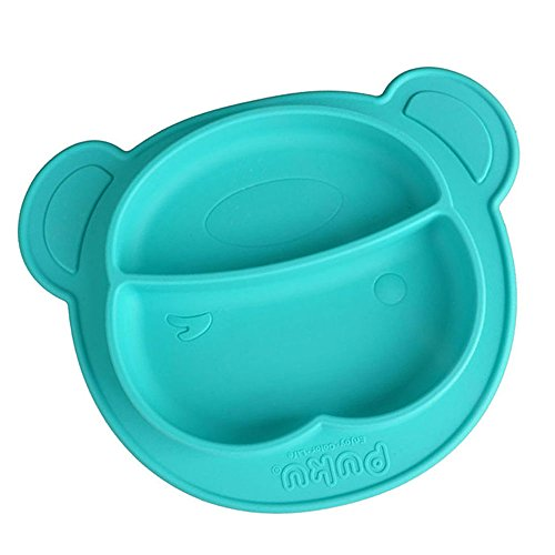 Silicone Baby Placemat With Divided Bowl,Ehonestbuy Kids Snack Bowls Plate with Suction Cup, Dishwasher and Microwave Safe, BPA and Phthalate Free,Table Place Mat for Babies, Infants, Toddlers (005 Washer)