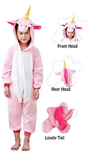 Unicorn Pajamas,Cosplay Animals Costumes,Novelty Unisex Kids Unicorn Pyjamas,Loose Animals One-Piece,Cartoon Unicorn Jumpsuits,Christmas Halloween Thanksgiving Outfit
