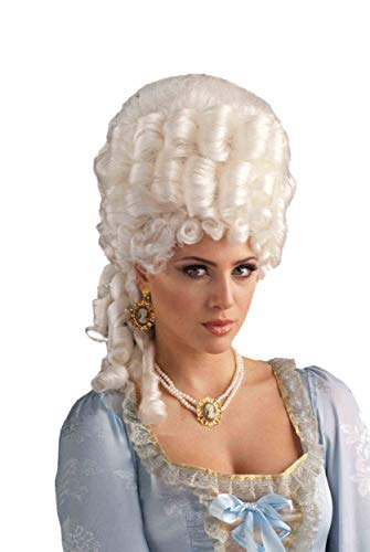 Forum Novelties Women's Marie Antoinette Wig Adult Costume Accessory, Platinum Blonde, One Size ()