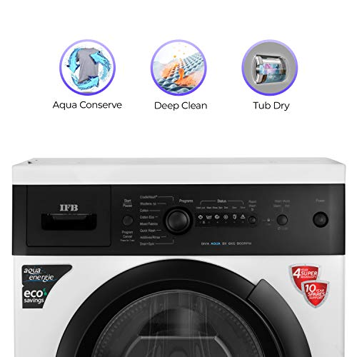 IFB 6 kg 5 Star Fully-Automatic Front Loading Washing Machine (Diva Aqua BX, White|Black matte, In-Built Heater) Discounts Junction