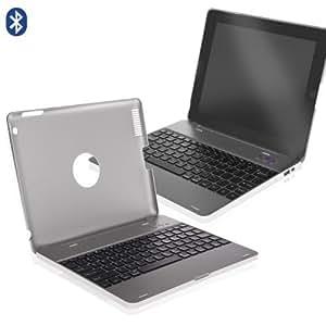 TECLADO + FUNDA + BATERÍA -Bluetooth- iPad 2, 3 y 4 plata