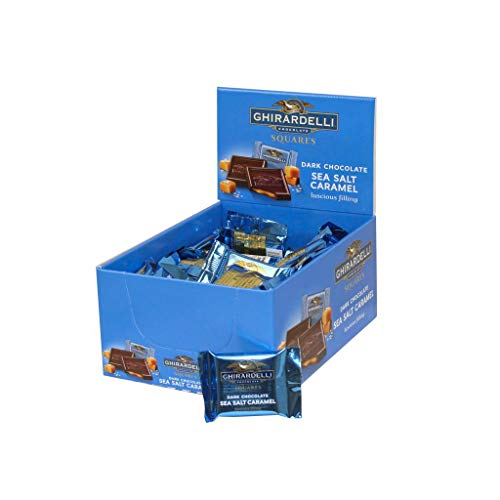Ghirardelli Dark & Sea Salt Caramel Chocolate Squares, 0.53 Ounce, 50 count