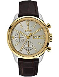 Bulova Mens Automatic Stainless Steel and Leather Casual Watch, Color:Brown (Model: 65C112)