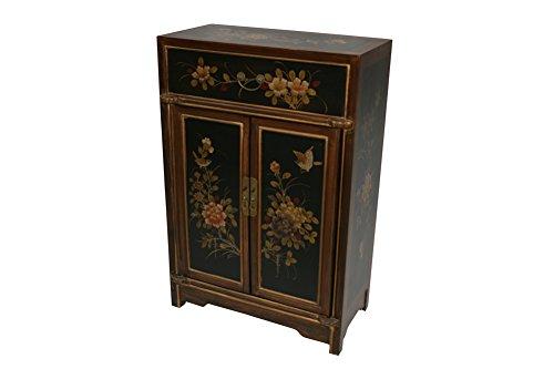 Chinese Arts, Inc Black Wooden Tall Cabinet Model SA02-B