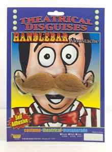 Forum Novelties 61509 Moustache Handlebar Accessory Party Supplies, One Size, Brown (Pack of 6)