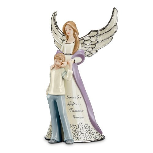 Forever My Son Heirloom Porcelain Musical Figurine by The Bradford Exchange