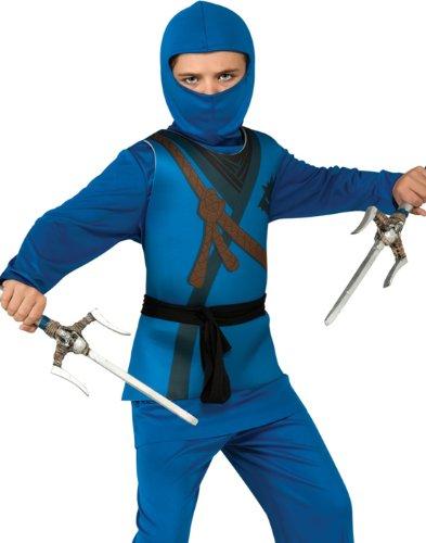 Ninja Child's Costume, Blue, Small ()