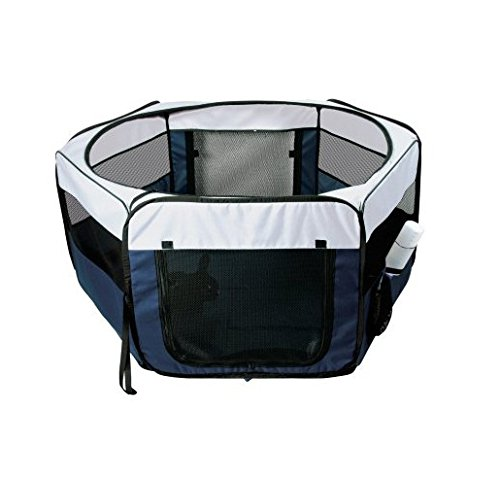 Soft Sided Mobile Play Pet Pen Size: Small (15.5″ H x 35.25″ W x 35.25″ L)