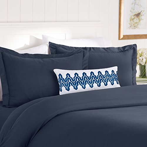 Elegant Comfort Best, Softest, Coziest Duvet Cover Ever! 1500 Thread Count Egyptian Quality Luxury Super Soft WRINKLE FREE 2-Piece Duvet Cover Set, Twin/Twin XL, Navy Blue - Navy Blue Duvet Cover Set