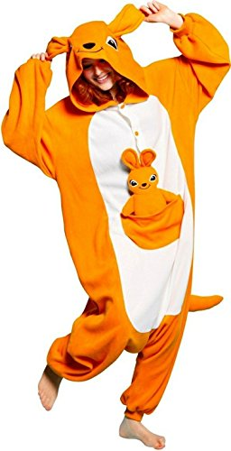 Joygown Unisexe En Peluche Un Morceau Halloween Costume Pyjama Animal Adulte Cosplay Kangaroo